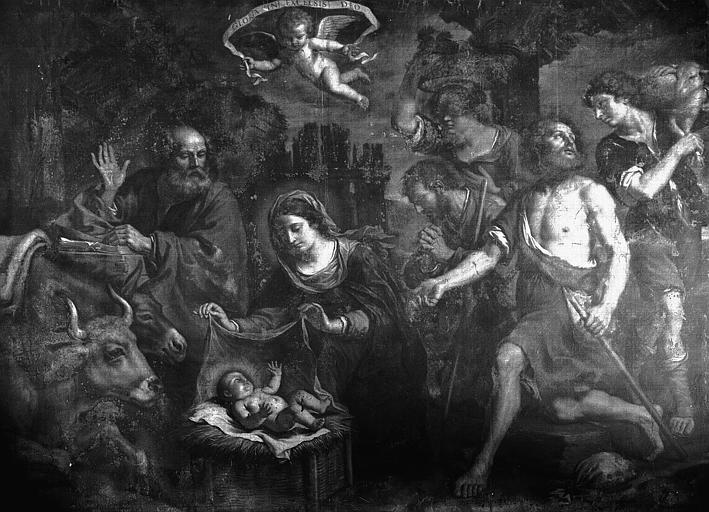 2 tableaux : l'Adoration des bergers l'Adoration des Mages