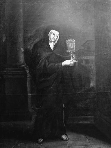 Tableau : sainte Claire portant l'ostensoir