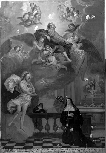 Tableau : l'Apparition du Christ à Marguerite Marie Alacoque