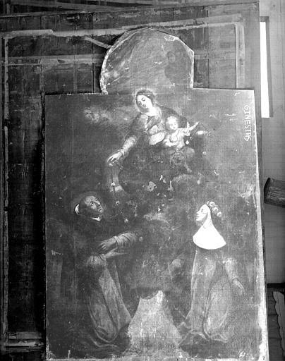 Le Rosaire, peinture sur toile