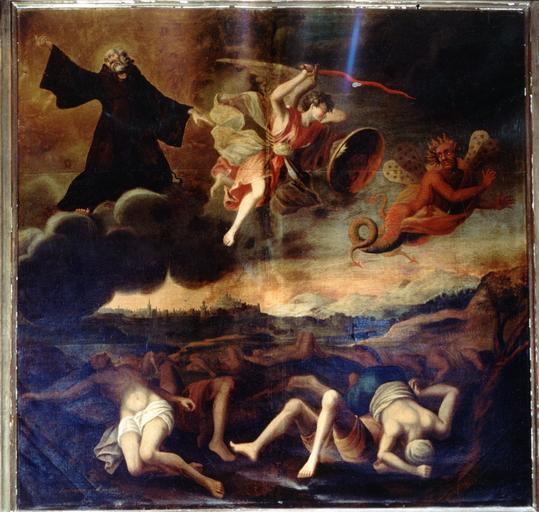 tableau : ville de Perpignan délivrée de la peste par l'intercession de saint François de Paule (la)