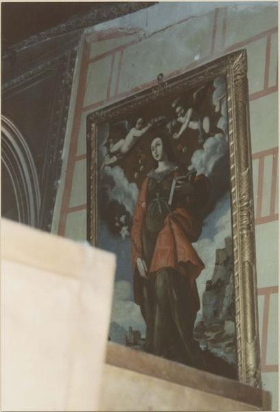 Tableau : sainte Basselise couronnée de roses, vue générale