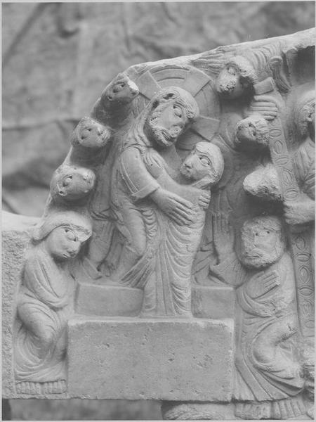 tympan : la Résurrection, l'Assomption de la Vierge, Christ en majesté (le)