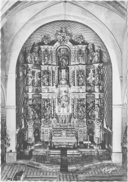 Retable du maître-autel : le Triomphe de la Vierge, vue générale