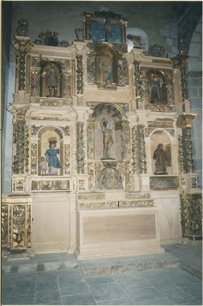 Retable de saint Raphaël, gradin d'autel, tabernacle, statues