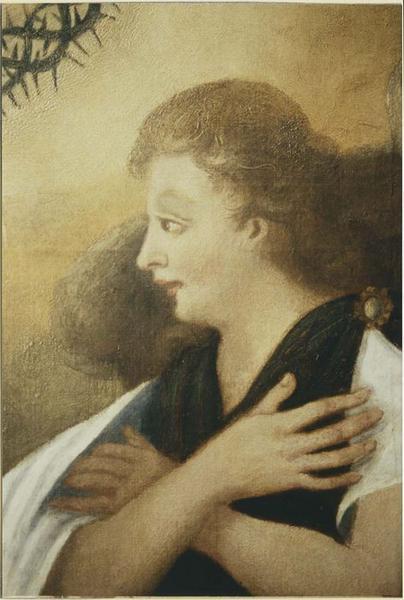 Tableau: Adoration du Sacré Coeur par les anges, vue générale