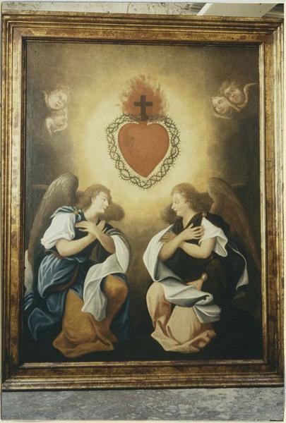 Tableau: Adoration du Sacré Coeur par les anges, détail
