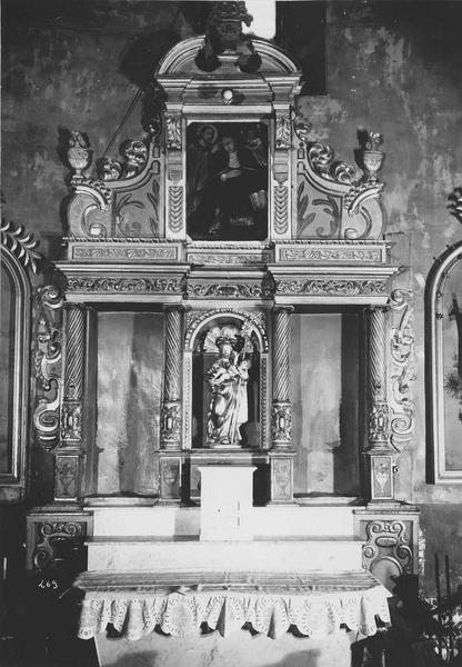 Retable, groupe sculpté de saint Antoine-de-Padoue : saint Antoine-de-Padoue