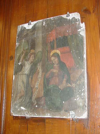Tableau de l'Annonciation (Ensemble de deux panneaux peints : Annonciation/Nativité)