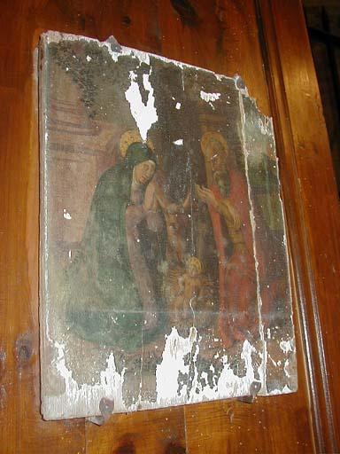 Tableau de la Nativité (Ensemble de deux panneaux peints : Annonciation/Nativité)