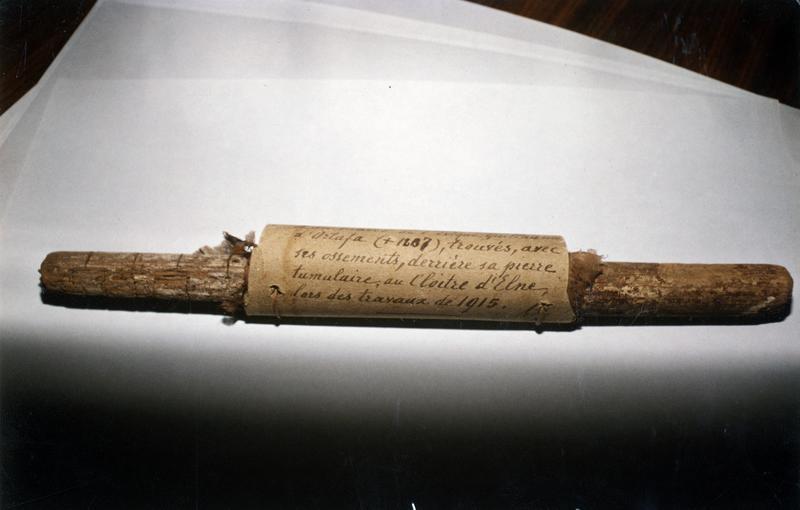 Bâton de procession, calice (bâton épiscopal) de l'évêque Guillaume d'Ortaffà