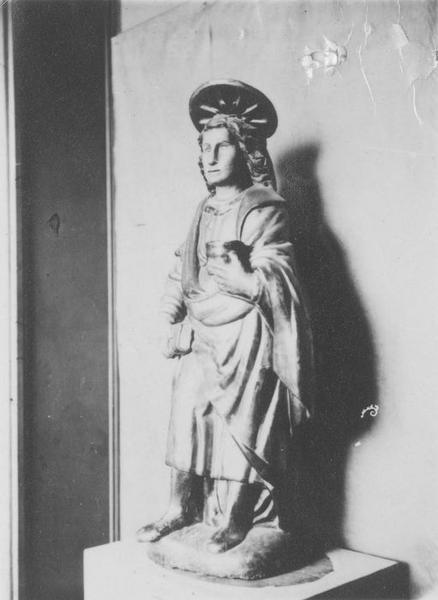 Retable, 3 statues de saint Côme et saint Damien : saint Cosme, saint Damien, saint Joseph