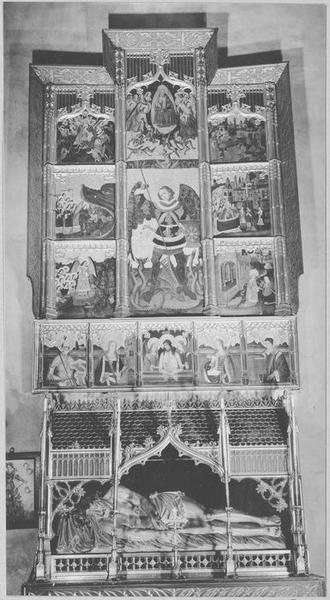 Retable de saint Michel, tableaux