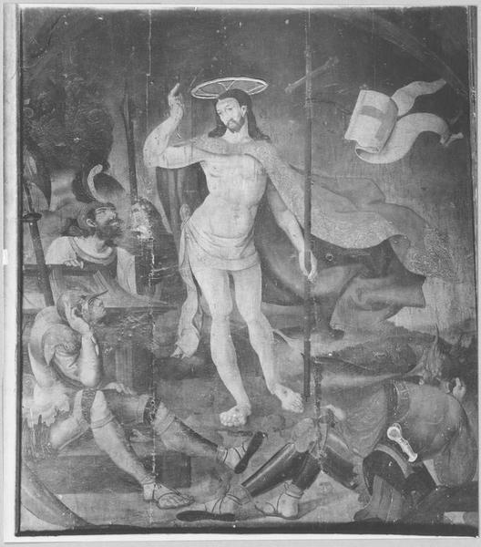 7 tableaux : l'Annonciation, la Nativité, l'Adoration des Mages, la Résurrection, l'Ascension, la Pentecôte, la Mort de la Vierge