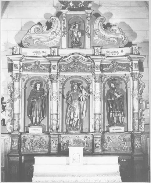 retable de saint Joseph, statues, groupe sculpté : saint Joseph, vue générale