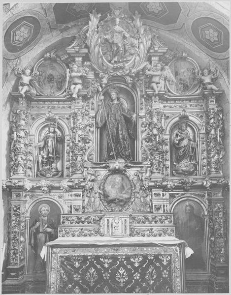 Retable de Saint Romain, autel, tabernacle, vue générale