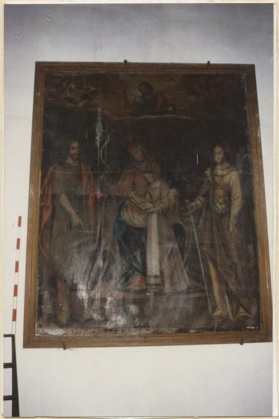Tableau : Education de la Vierge, entre saint Jean-Baptiste et sainte Catherine d'Alexandrie (l')