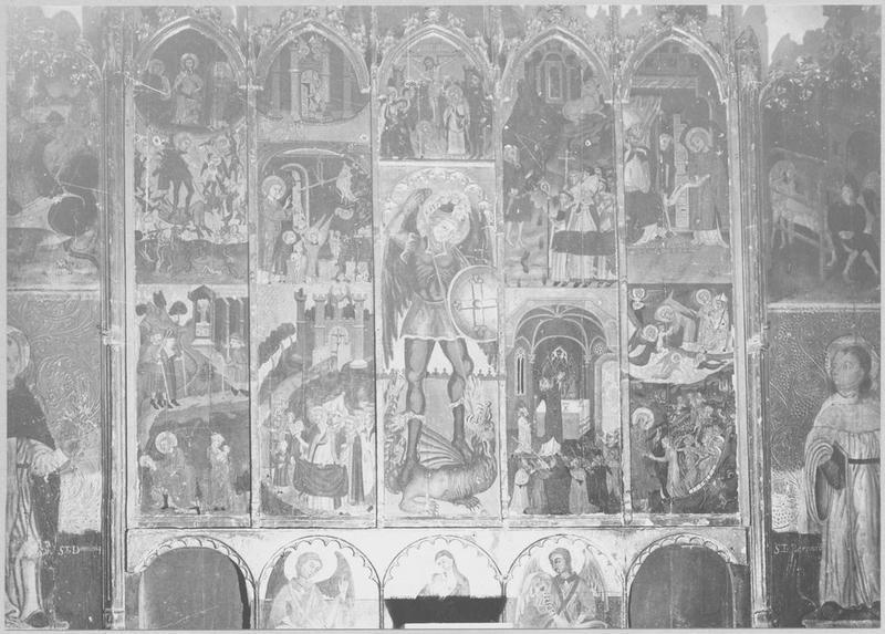Retable, tableaux (13) de saint Michel