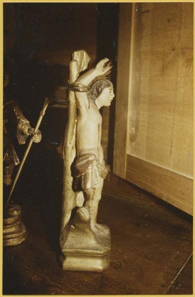 Statuette-reliquaire : saint Sébastien