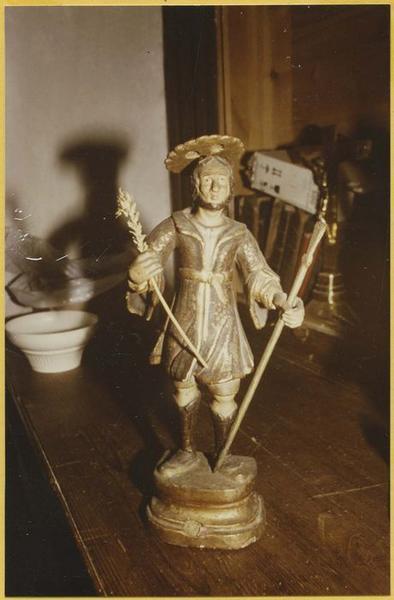 Statuette de procession ou statuette-reliquaire : saint Gaudérique