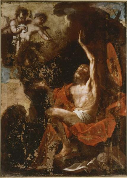 Tableau : saint Jérome au désert