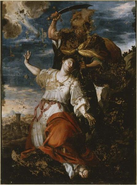 Tableau : la Décollation de sainte Barbe