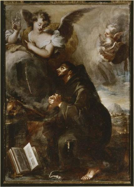 Tableau : la Vision de saint François d'Assise