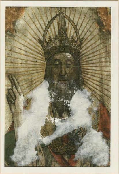 Tableau (volet gauche de l'orgue) : saint Jean-Baptiste baptisant le Christ, détail