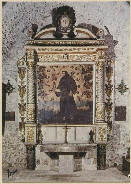 Retable, tableau de saint Antoine : saint Antoine