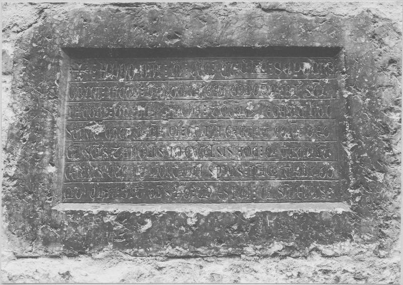 Plaque funéraire de Jacques de Formiguère