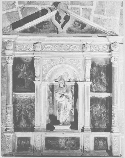 Retable du Rosaire, tableaux, statue : Vierge