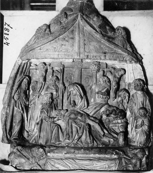 Groupe sculpté : Déposition de Croix, vue générale
