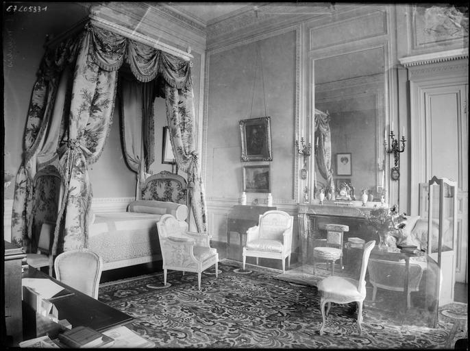 Intérieur : décoration d'une chambre à coucher