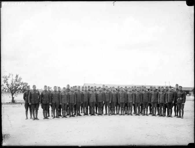 Portrait de groupe : régiment américain