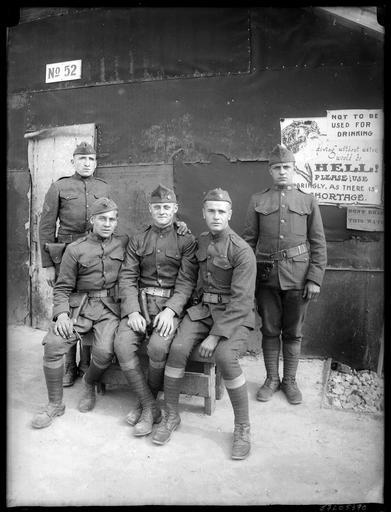 Portrait de groupe : soldats américains