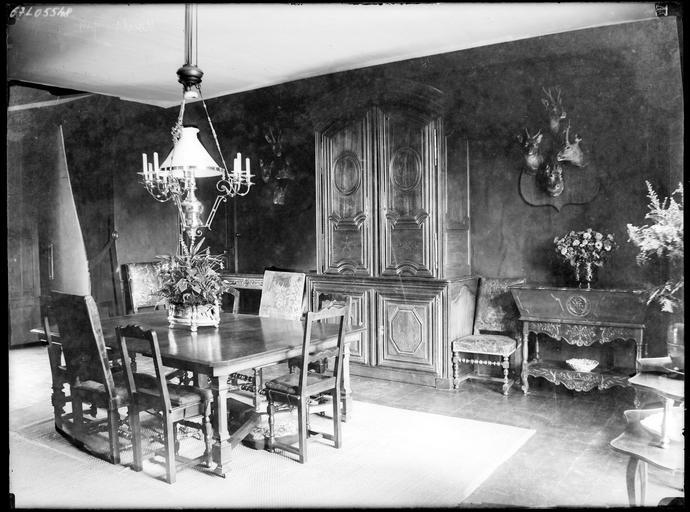 Intérieur : décoration de la salle à manger