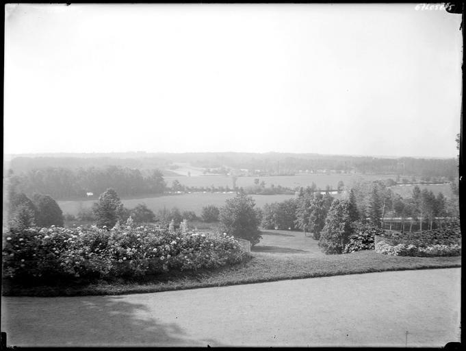 Campagne environnante vue du château