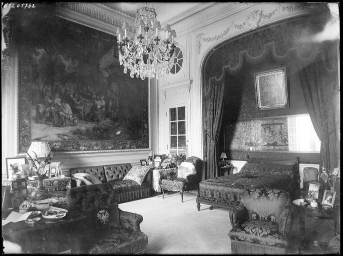 Intérieur : la chambre du Prince Radziwill
