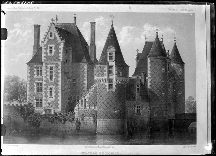 Carte postale du château sur douves