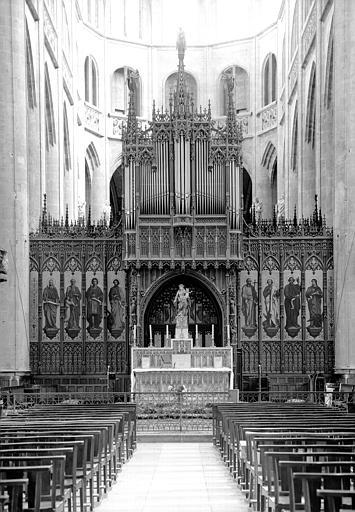 Jubé et buffet d'orgue, côté ouest