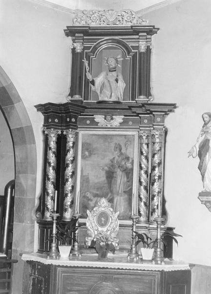 autel, tableau, statue (autel secondaire)