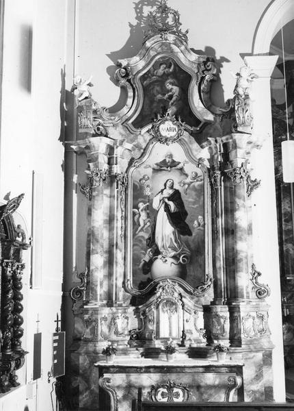 Autel, retable, tableau (autel secondaire) : Immaculée Conception, Annonciation, de la Vierge