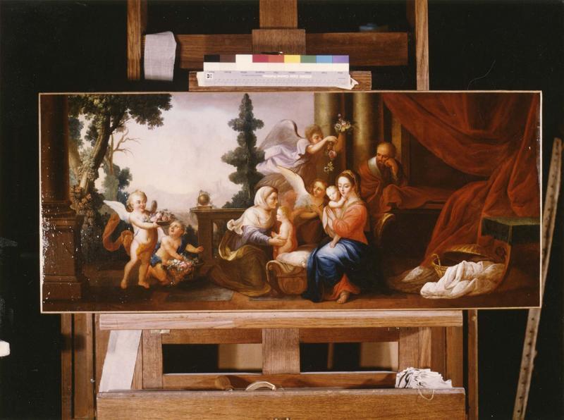 tableau (maître-autel) : Sainte Famille (La)