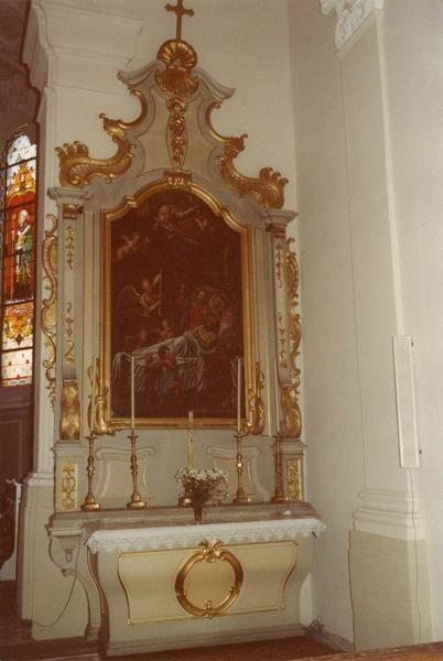 autel, retable, tableau (autel secondaire) : la Mort de saint Joseph