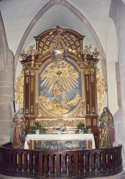 autel, retable : Sainte Famille (la), Baptême du Christ (le)