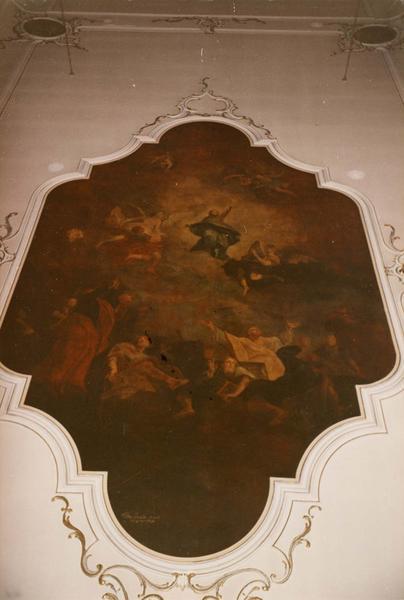 5 tableaux (plafond) : Assomption de la Vierge, les Evangélistes