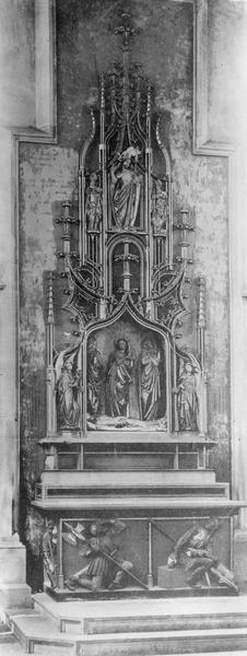 Autel, groupe sculpté : du Saint-Sépulcre