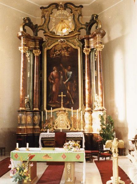Autel, tabernacle, retable, tableau : saint Simon et saint Jude (maître-autel)