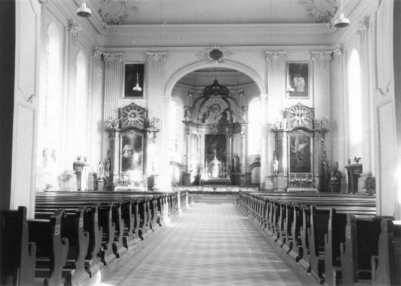 autels (2), retables (2), tableaux (2) (autels secondaires) : Annonciation (de l'), saint Michel (vue générale)