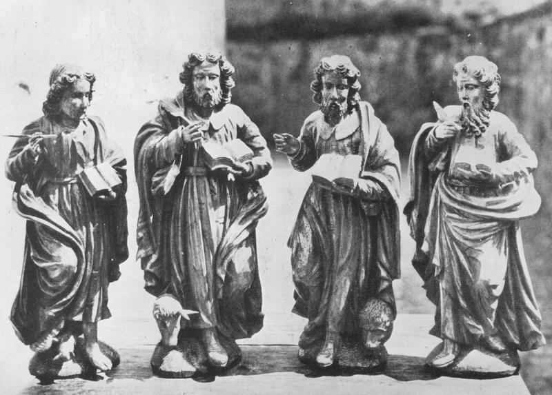 statues (4) (statuettes) : les évangélistes